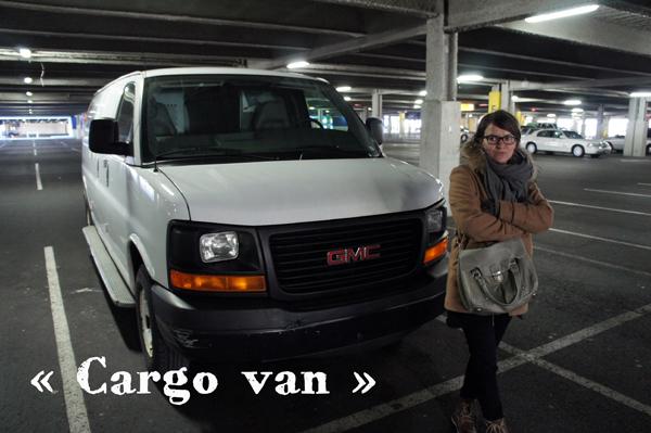 On loue un gros Cargo Van pour faire les courses chez Ikea