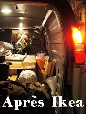 Cargo Van après Ikea