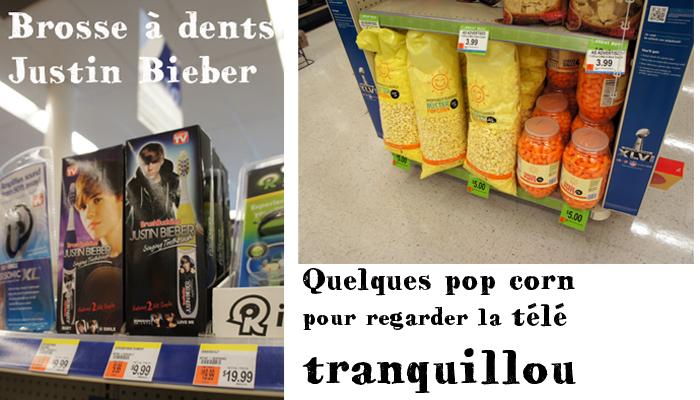Brosse à dents Justin Bieber et gros paquet de pop Corn