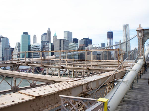 View from the Brooklyn Bridge - New York