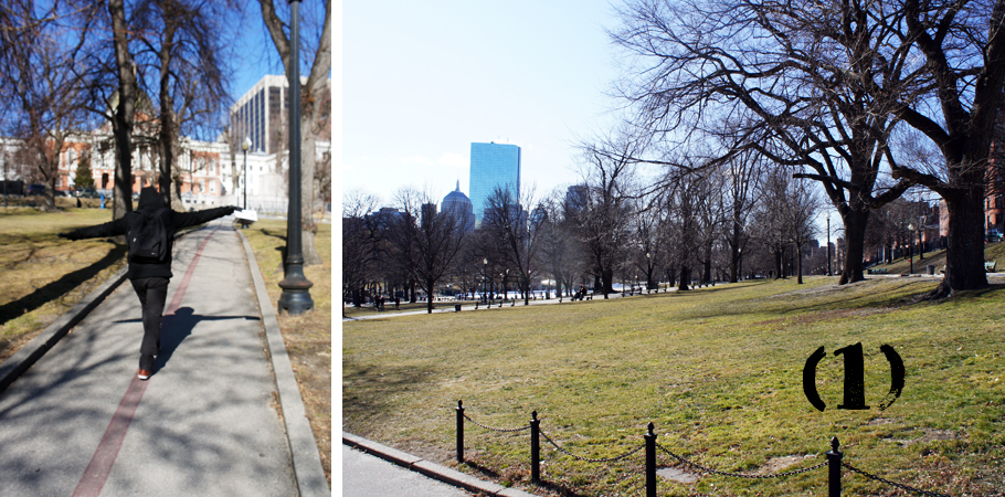Boston Common, first step of the Freedom Trail