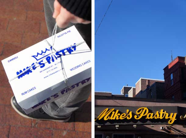 Mike's Pastry : box and shop