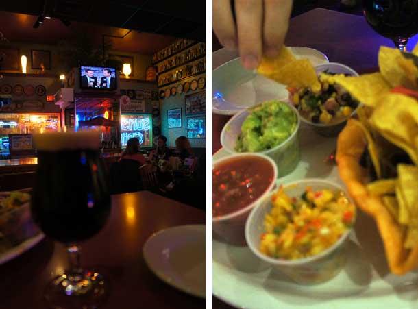 Chips et bière au Sunset Grill, Allston