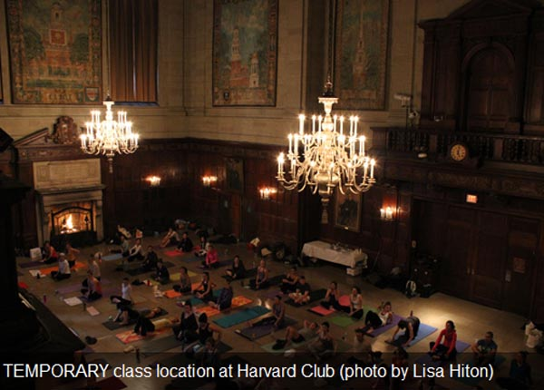 Yoga Back Bay Yoga in Harvard Club
