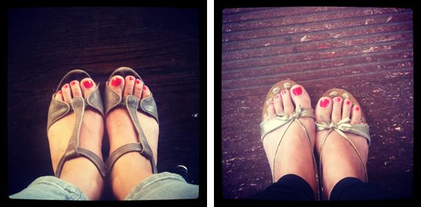 Sandalettes d'été !