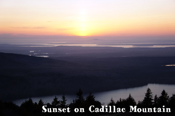 Sunset on Cadillac Mountain - Acadia National Park
