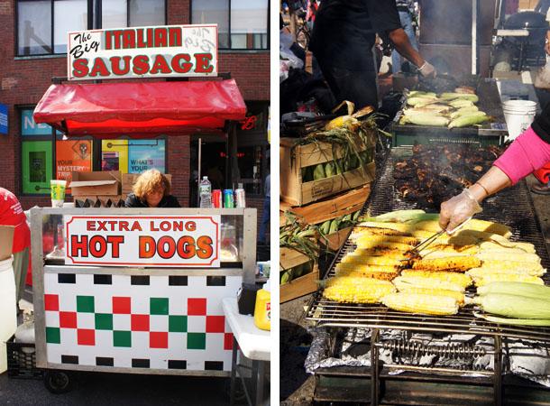 Corn and hot dog