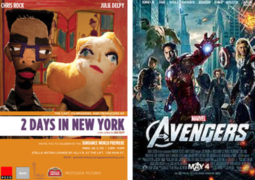 Film - Posters Avengers & 2 days in New York