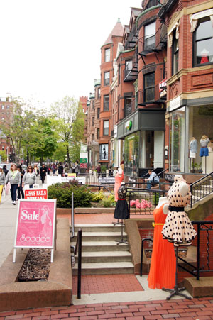 Shopping in Newbury St