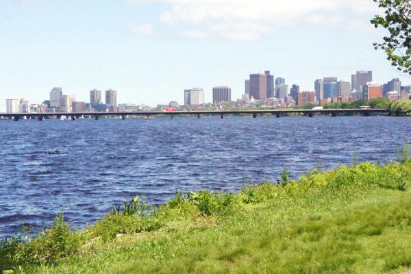 Charles River et Boston au loin