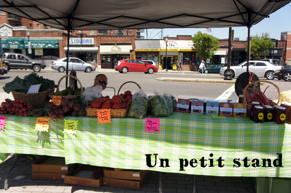 Stand at the Allston Farmer Market