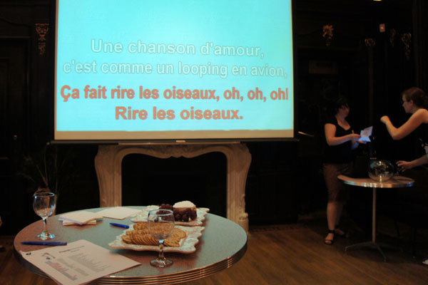 Karaoke at the French Cultural Center