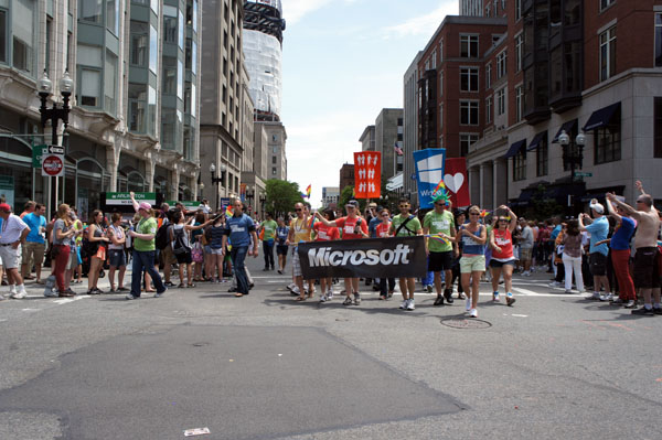 Microsoft at Boston Gay Pride