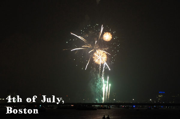 Fireworks à Boston
