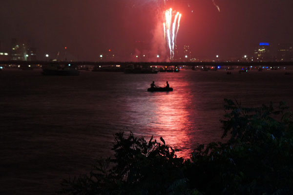 Best spot to see the fireworks: a canoe on the Charles