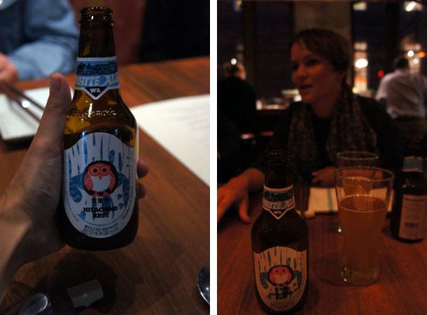 Bière blanche chez Oya Boston