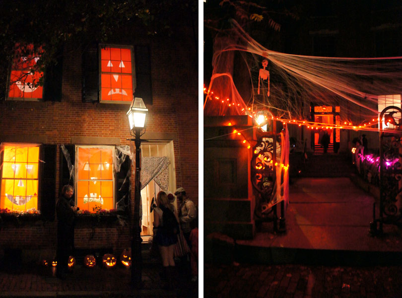 Décos d'halloween, Beacon Hill, Boston