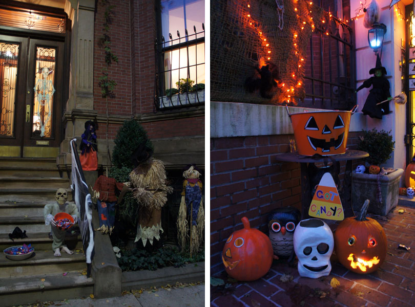 Devant les maisons - Halloween, Boston