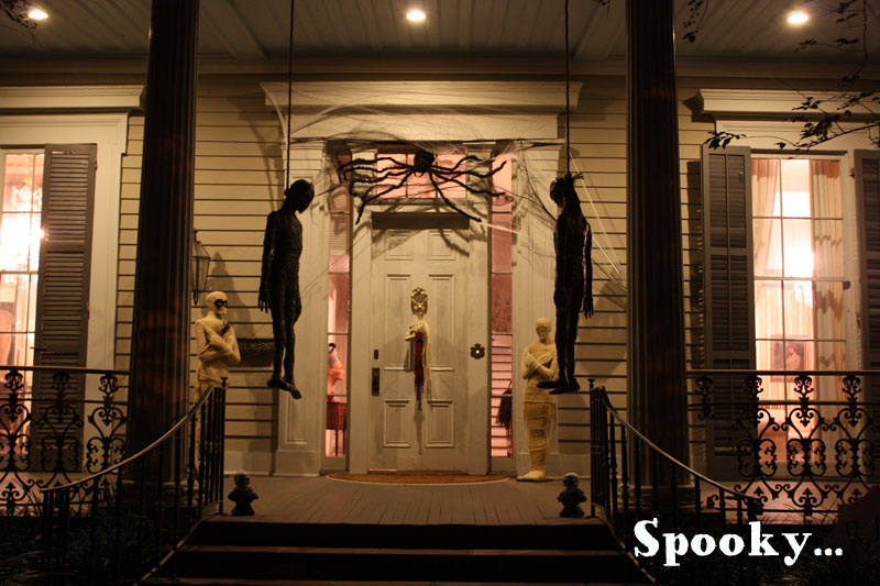 Spooky house for Halloween in New Orleans