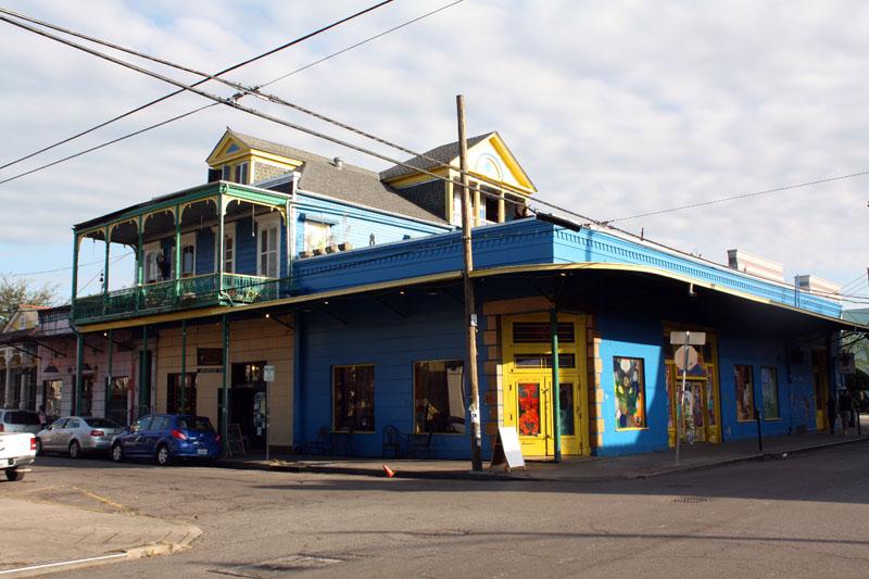 Maison bleu et jaune à New Orleans