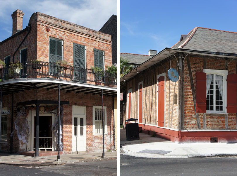 Maisons en brique, French Quarter, New Orleans