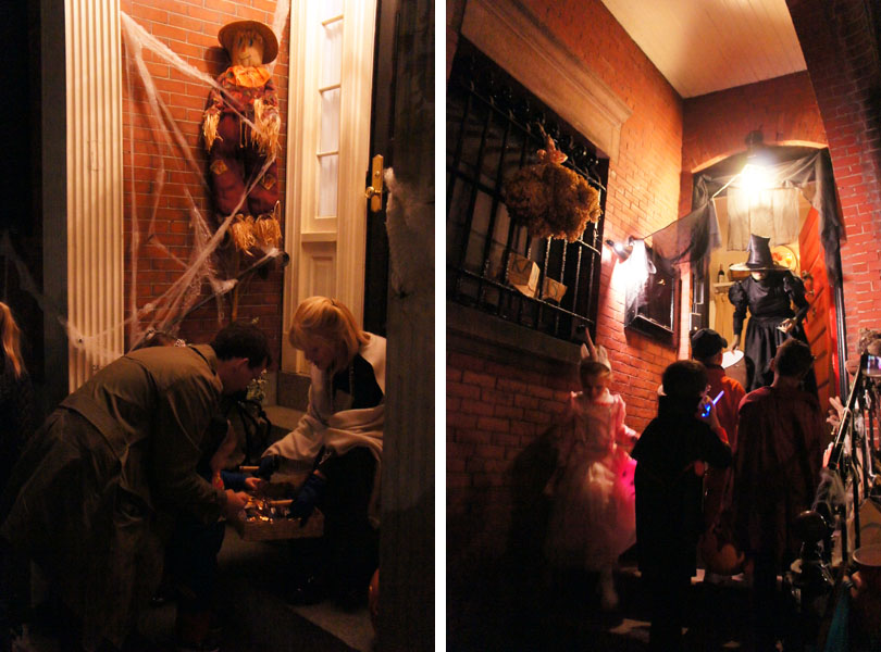 Trick or treat, Halloween, Beacon Hill, Boston