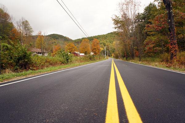Sur la route du Vermont