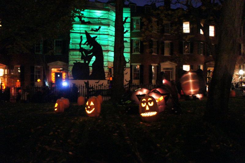 Sorcières et citrouilles, Beacon Hill, Boston