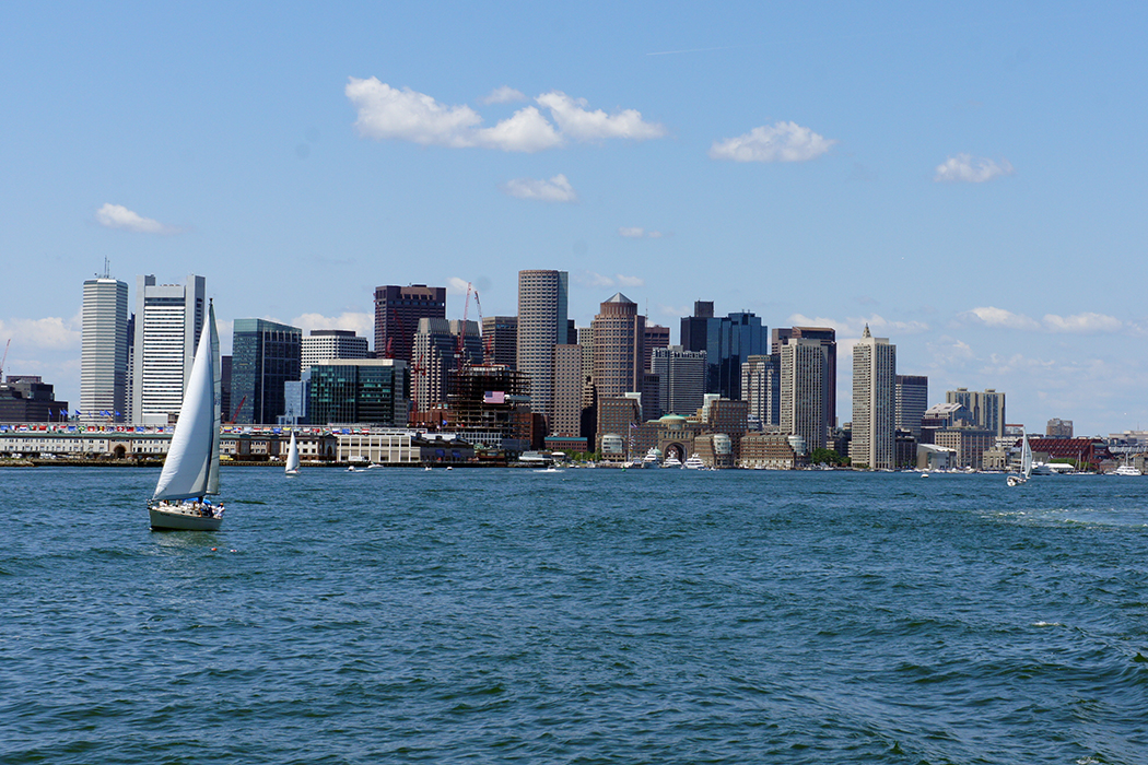Boston, vue depuis l'ocean