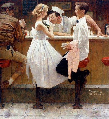 Restaurant - Norman Rockwell