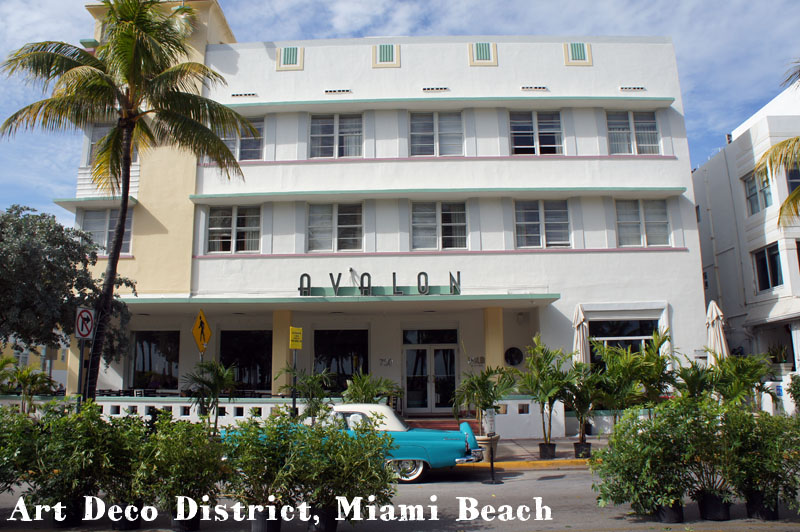 Art deco district Miami Beach