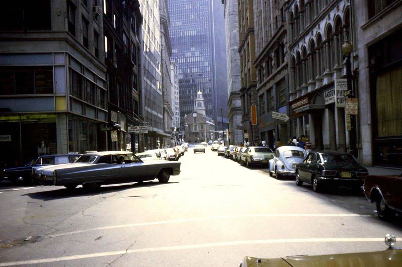Dirty Old Boston - Broad & State Streets, 1973