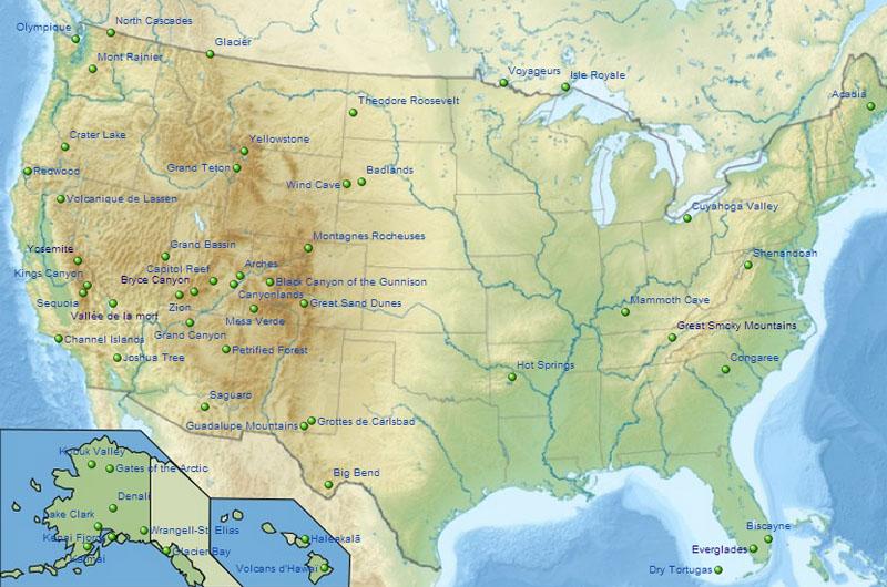 Extrêmement Visiter les grands parcs nationaux aux Etats-Unis | Le blog USA de  ZK58