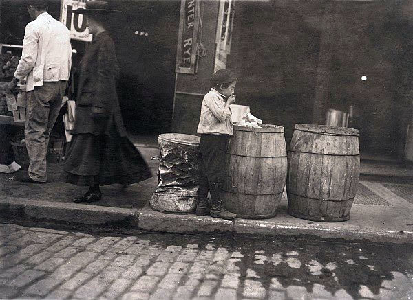 Dirty Old Boston - Is this kid smoking in 1909 Boston