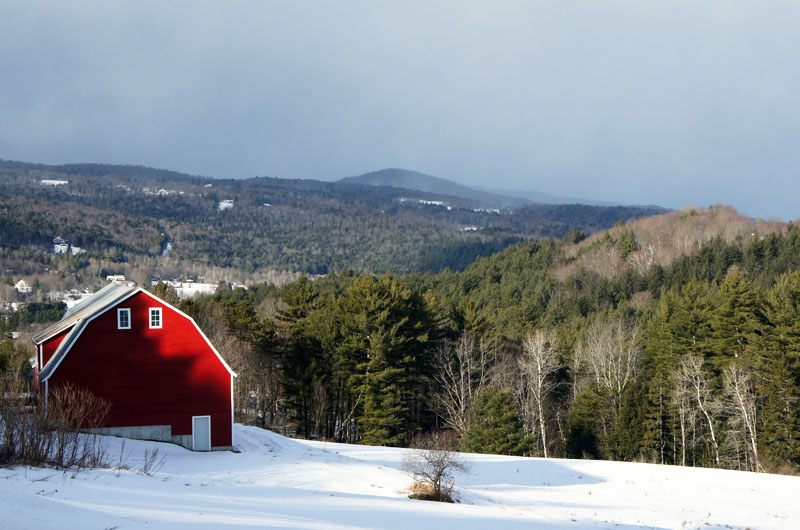 Red Barn in Vermont - New England