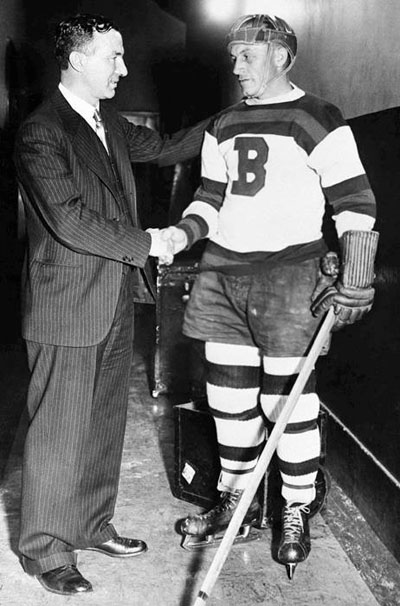 Old Dirty Boston - Eddie Shore-shown here with Art Ross in 1934