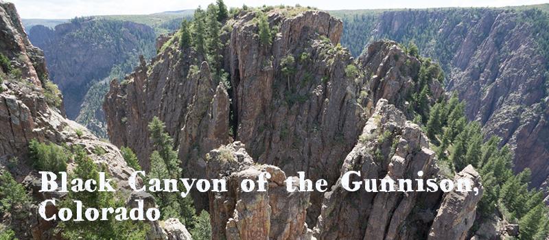 black canyon of the gunnison parc national américain colorado