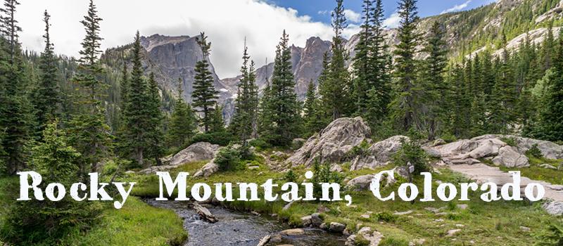 Rocky Mountain National Park, Colorado, les montagnes rocheuses américaines