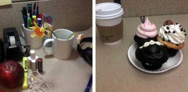 Le café dans le cubicle