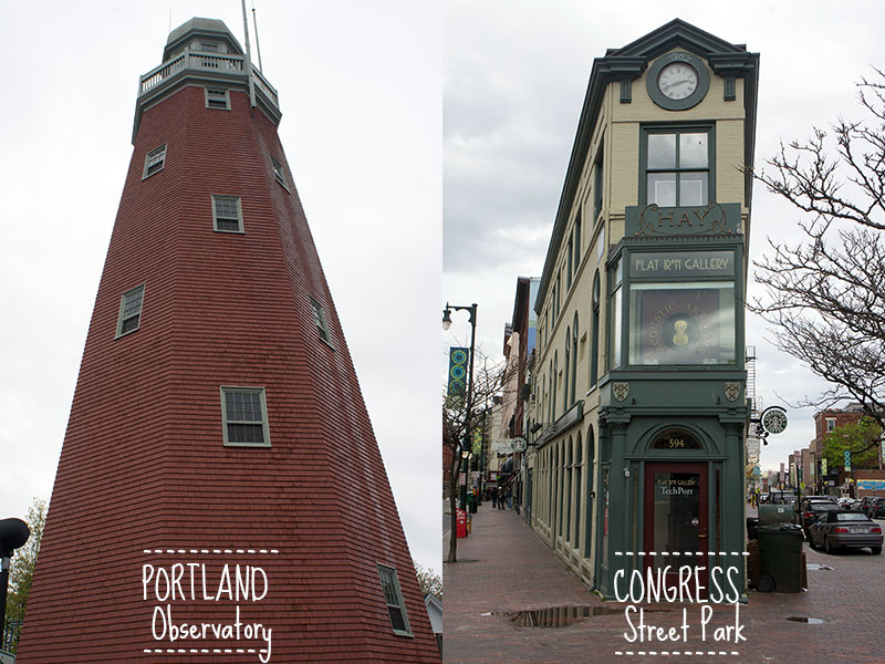 Portland Observatory et congress square - Portland