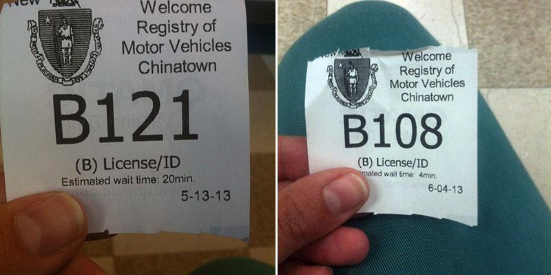 Rendez-vous au DMV de Boston