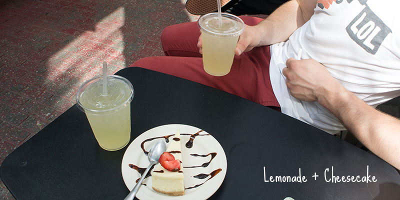Lemonade et cheesecake