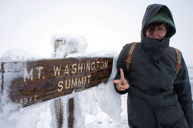 Mount Washington summit: I've made it to the top!