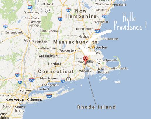 Providence, Rhode Island - carte