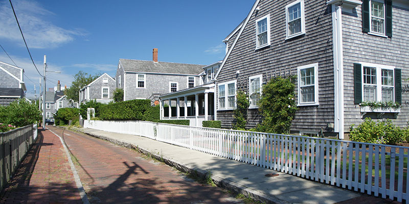 Nantucket - une jolie rue