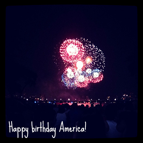 Happy birthday America - Independence Day in Boston
