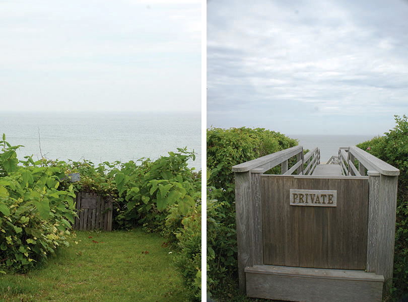Private yard Siasconset Nantucket