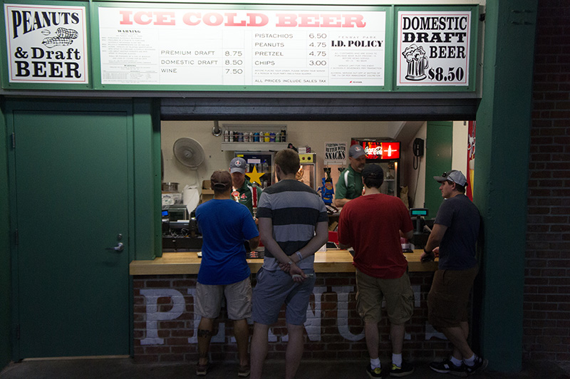 Boston Red Sox Fenway Park pizza and peanuts