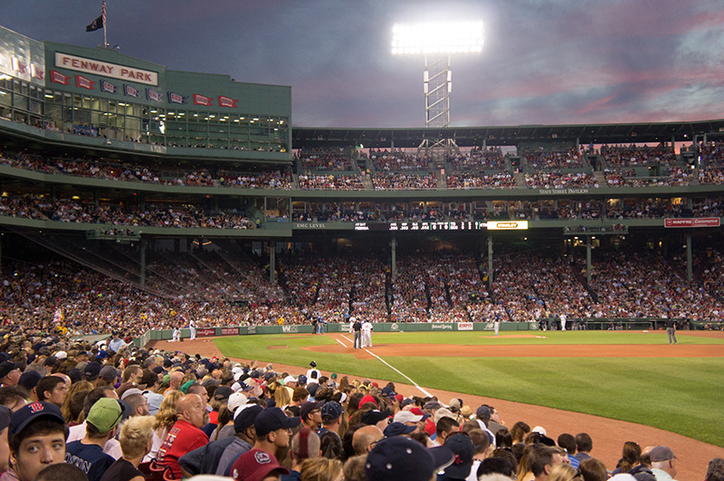 Baseball Game in Fenway Park