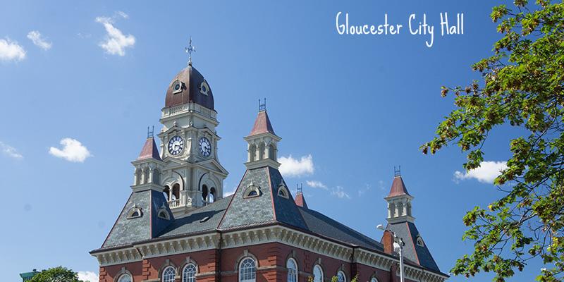 La mairie, city hall, de Gloucester